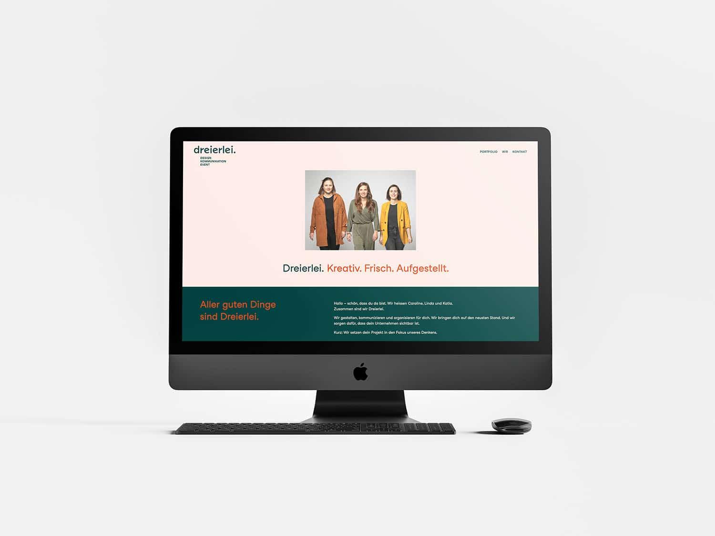 Dreierlei Portfolio Webdesign